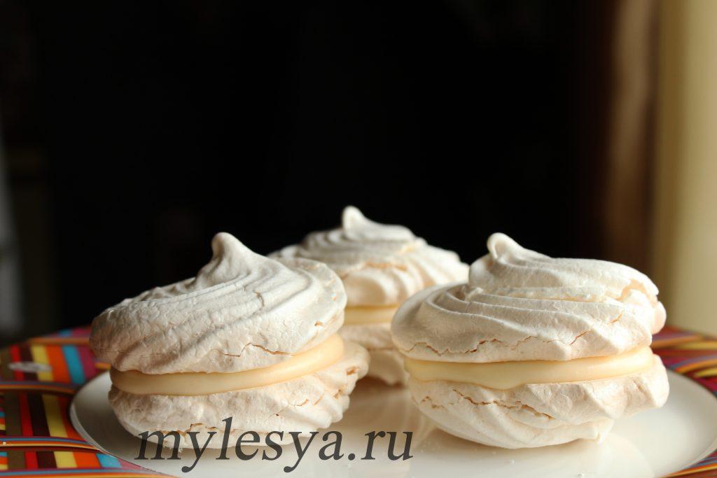 Пирожное безе (рецепт с заварным кремом)