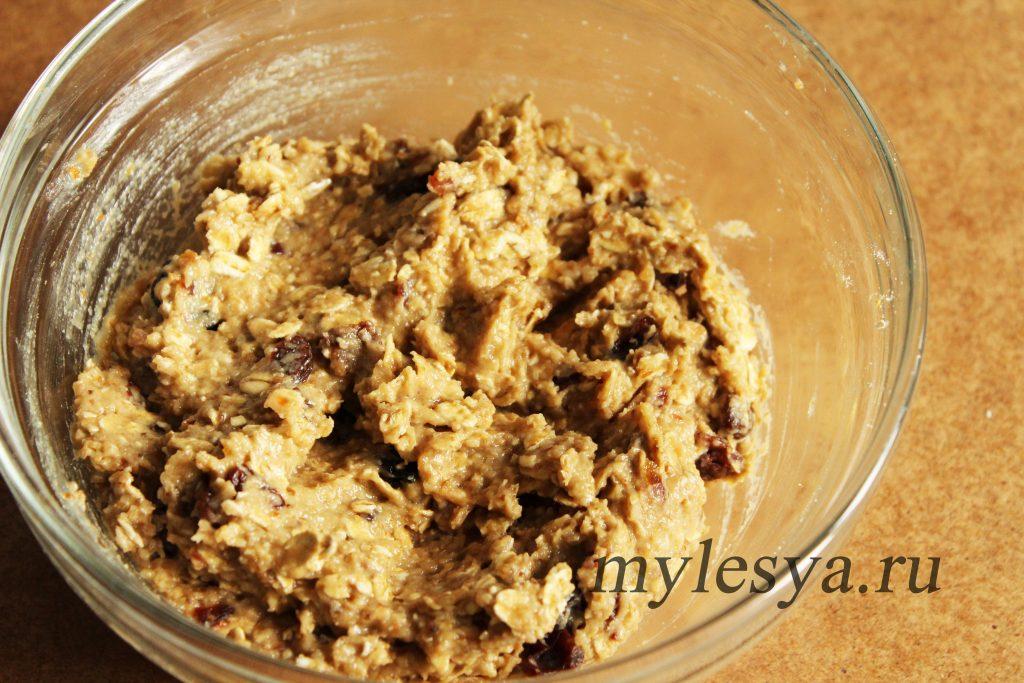Тесто для овсяного печенья