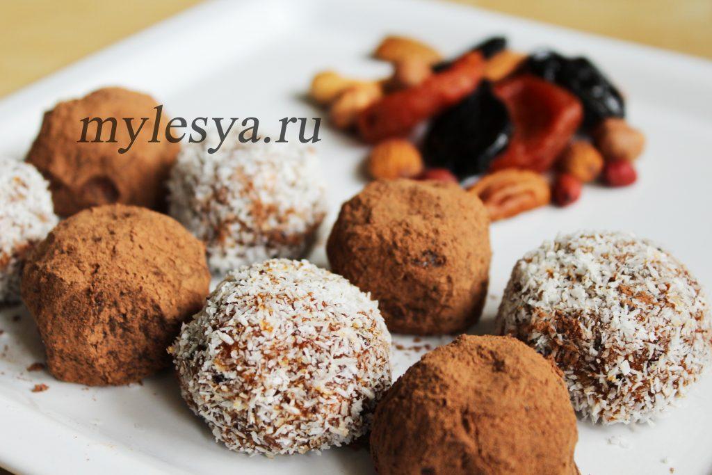 Конфеты из сухофруктов (с добавлением орехов)