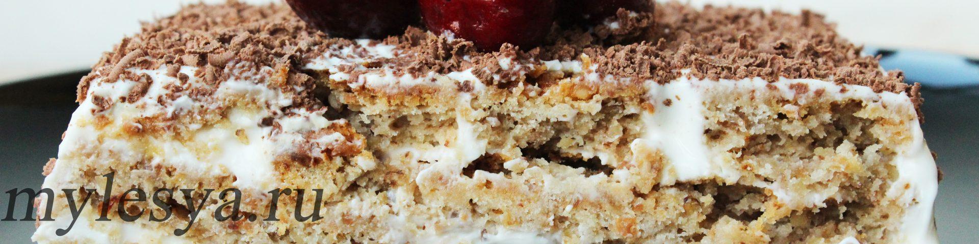 Торт «Поленница» (с изюмом и орехами)