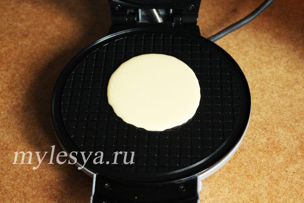 Приготовление хрустящих вафель